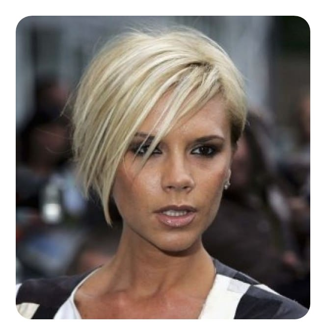 Undercut Short Bob With Blonde Hair