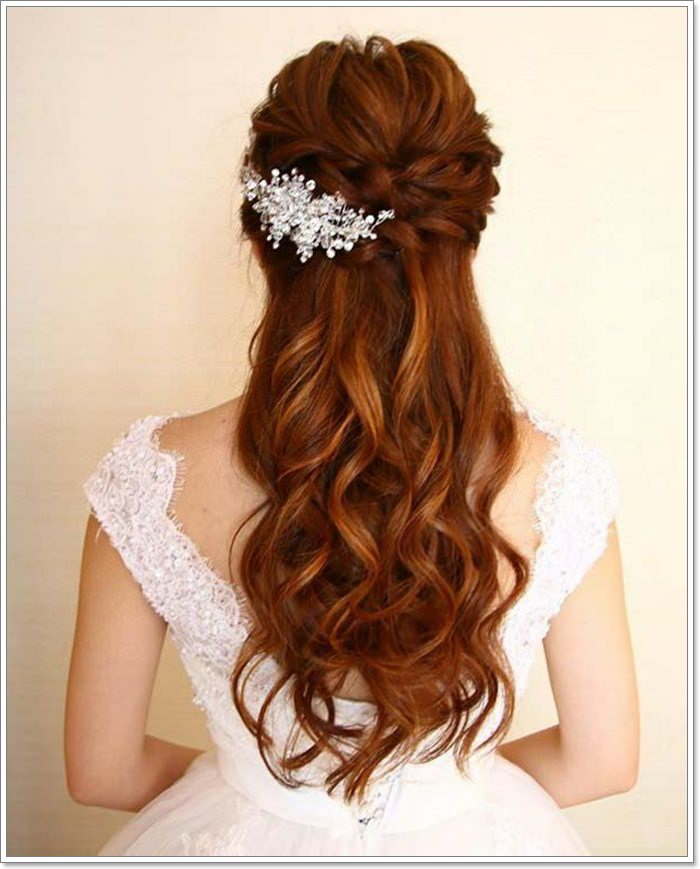 Wedding Hair Loose Up Style: 135 Whimsical Half Up Half Down Hairstyles You Can Wear