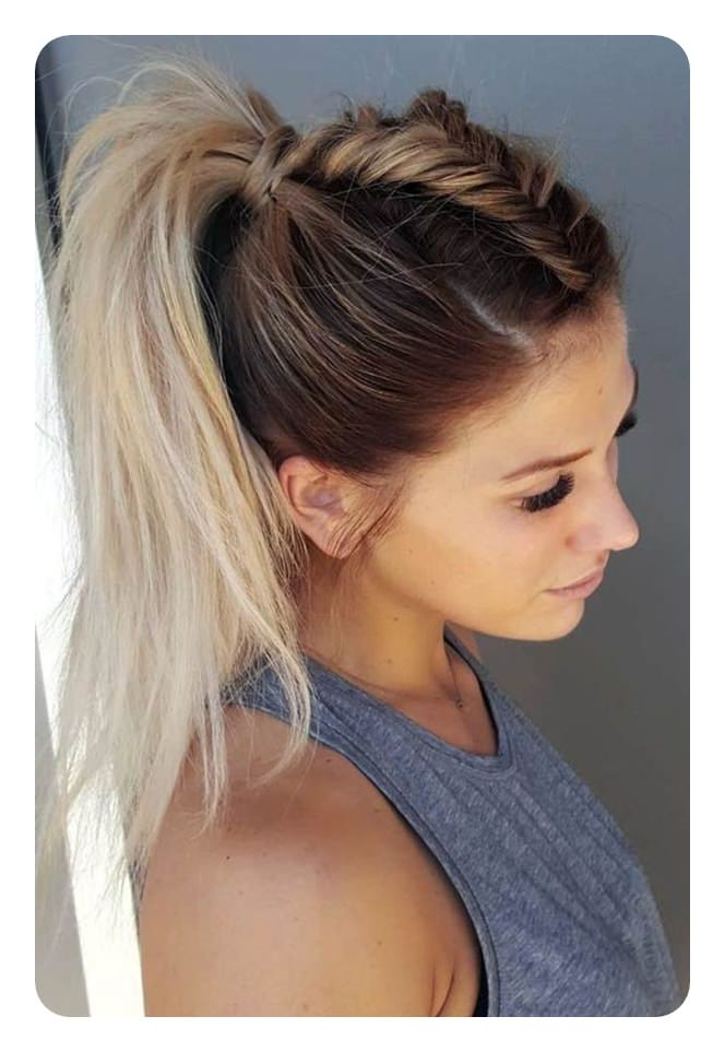 8d42dbe598eea Incorporate the fishtail braid into a  cornrow  ponytail for a trendier  look. Besides