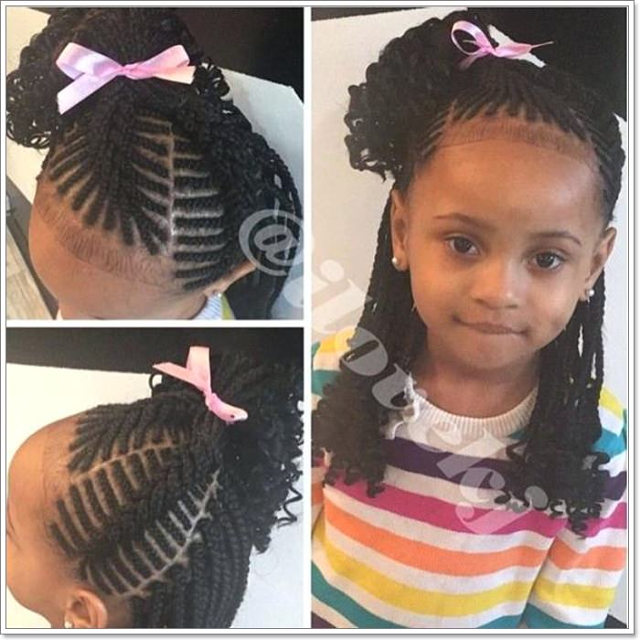 65d2d396 There are so many sections here, and the braid looks very well done. The  pastel pink ribbon makes this a cute hairstyle. The baby hair on the front  has been ...