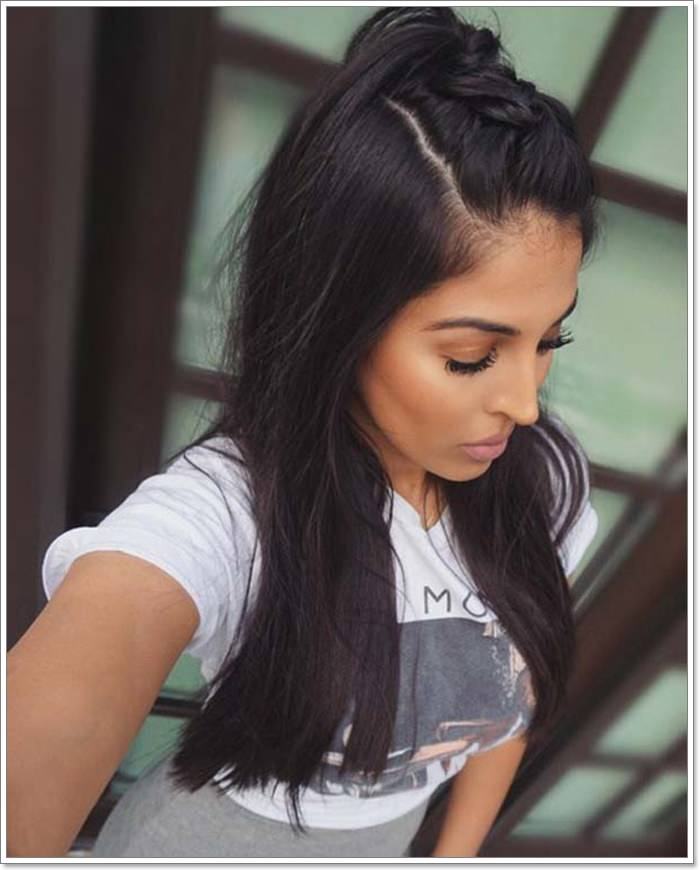 135 Whimsical Half Up Half Down Hairstyles You Can Wear ...