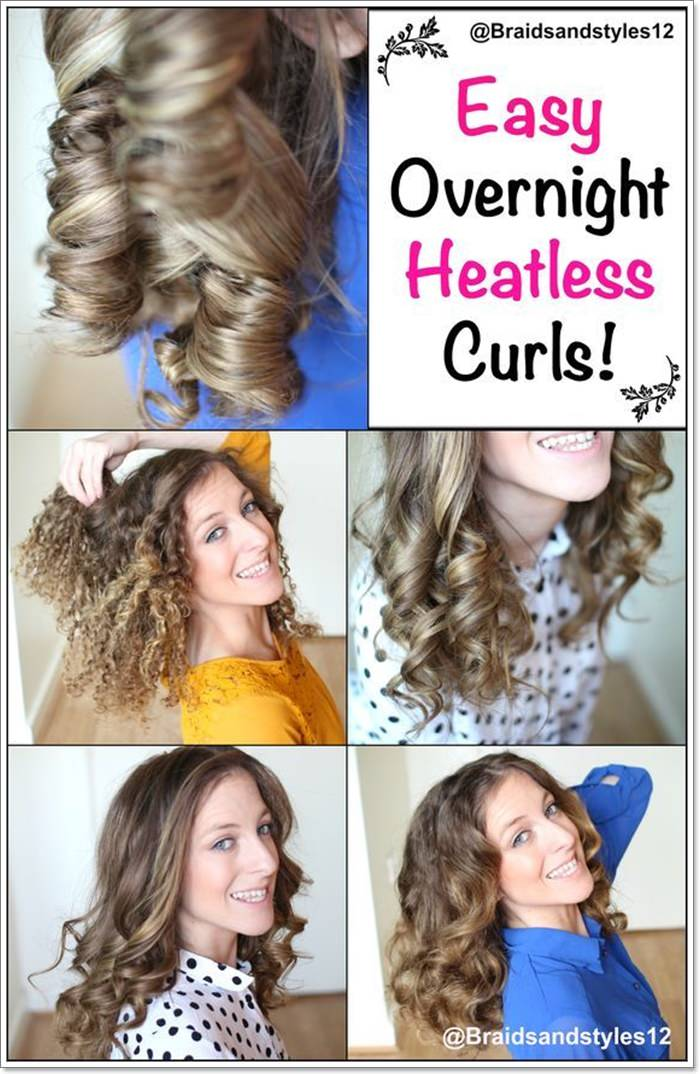 Heatless Curls With Wet Hair Up To 65 Off Free Shipping