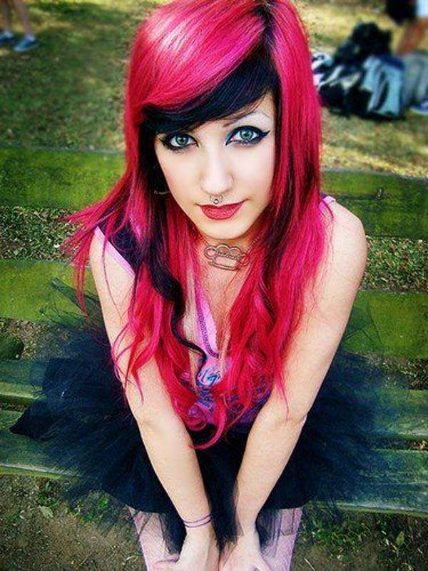Emo Hair Style Ideas For Girls Be A Punk Rockstar With Cool Hair