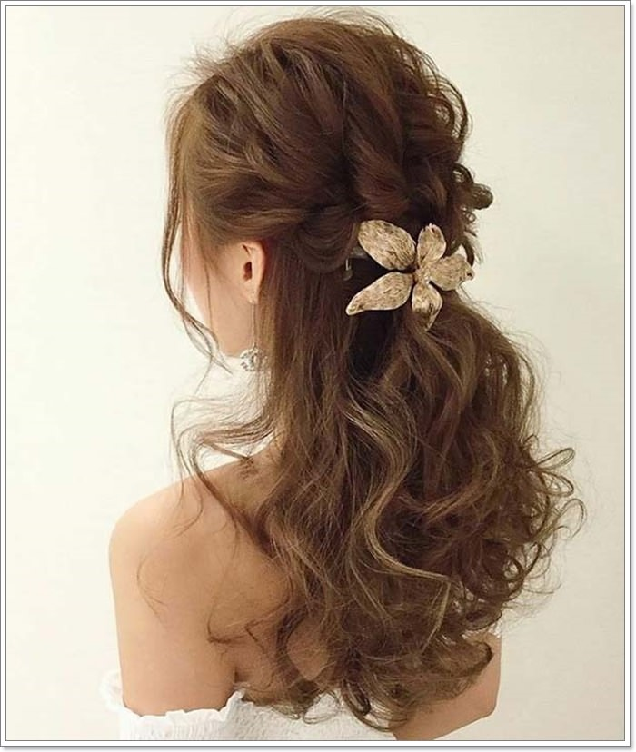 Wedding Hairstyles Half Up Half Down With Curls: 135 Whimsical Half Up Half Down Hairstyles You Can Wear