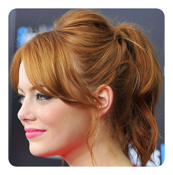 Wondrous 110 Unbelievable Ponytails With Bangs To Copy Natural Hairstyles Runnerswayorg
