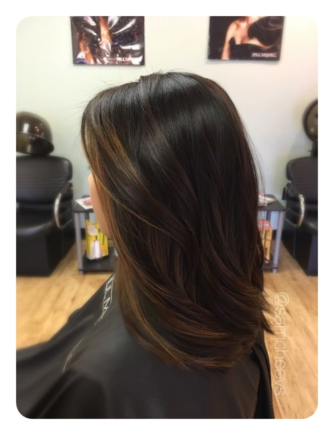 Light Brown Hair Color With Highlights Straight Hair