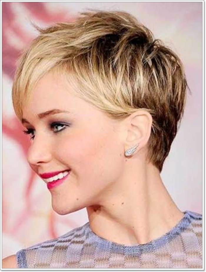 Short crop hairstyle guide jennifer lawrence cropped hair