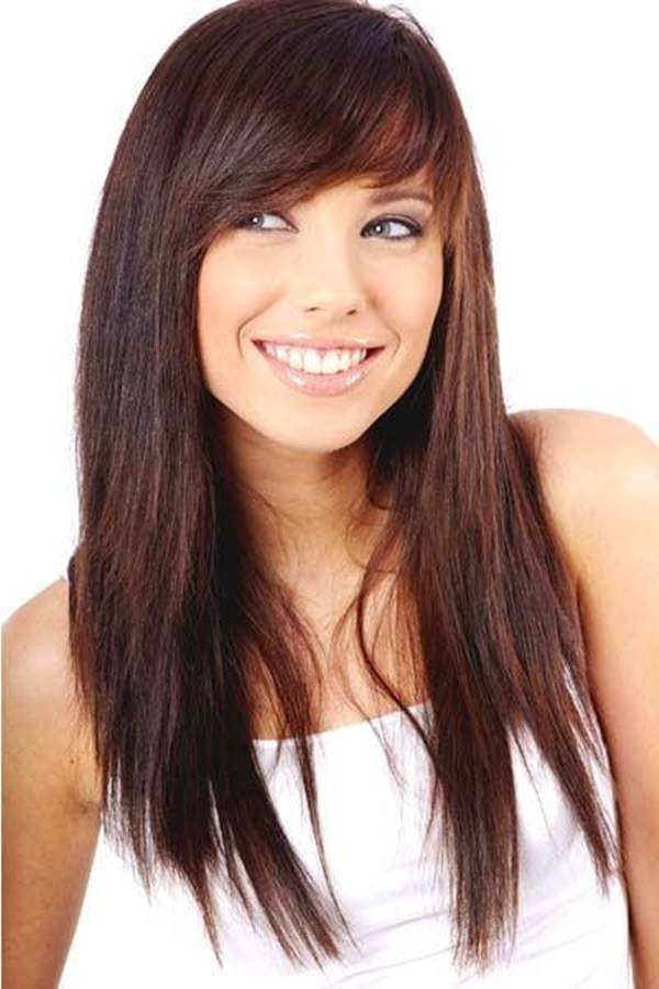 Long Layers Hair With Side Bangs 105
