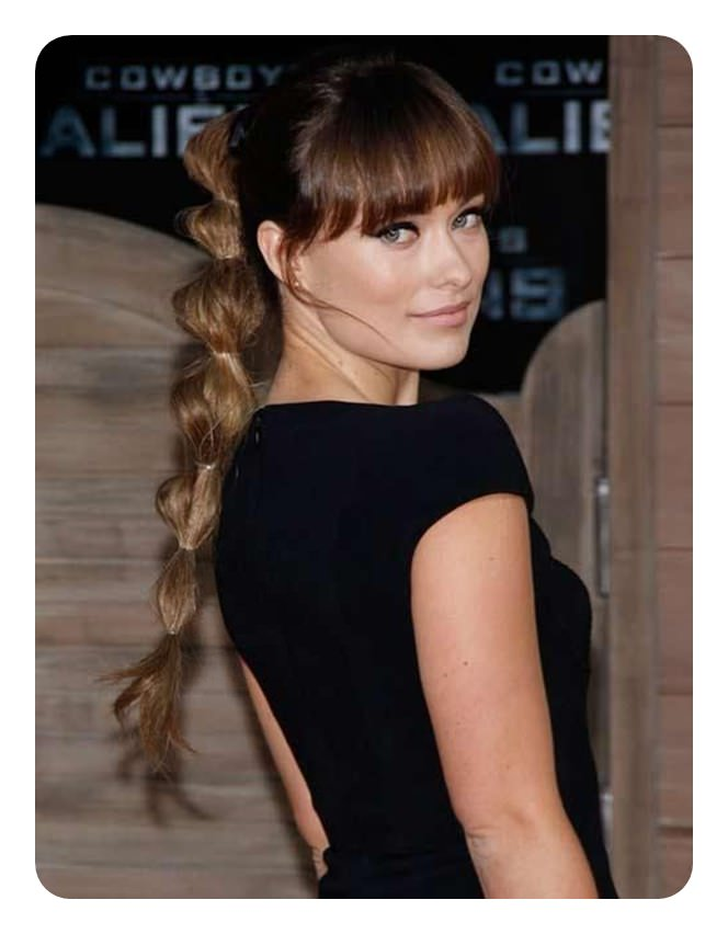 110 Unbelievable Ponytails With Bangs To Copy