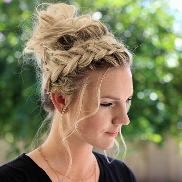 Excellent 119 Elegant And Chic Braided Updo For Special Occasions Natural Hairstyles Runnerswayorg