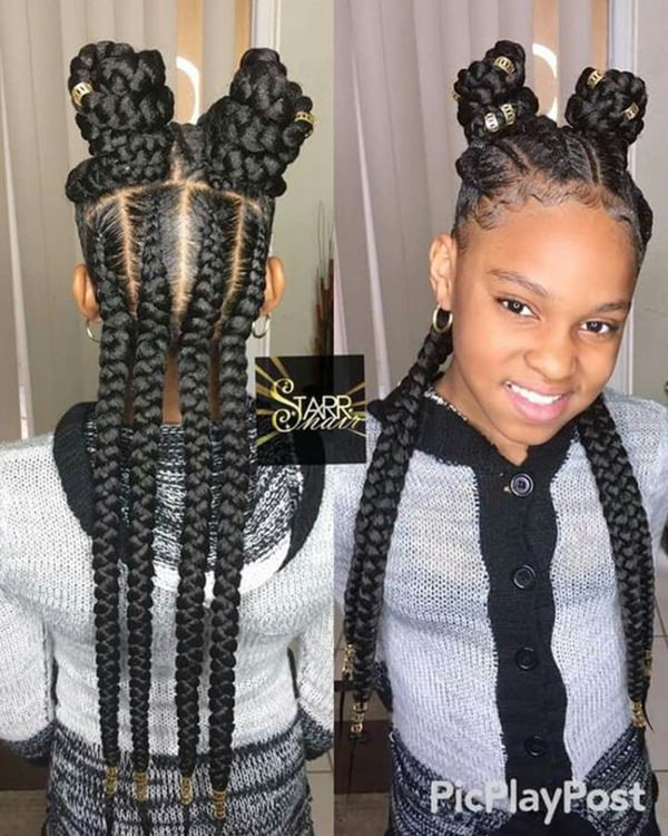 Hairstyle For Big Head Girl: 140+ Braided Hairstyles For Little Girls Are Stunning To