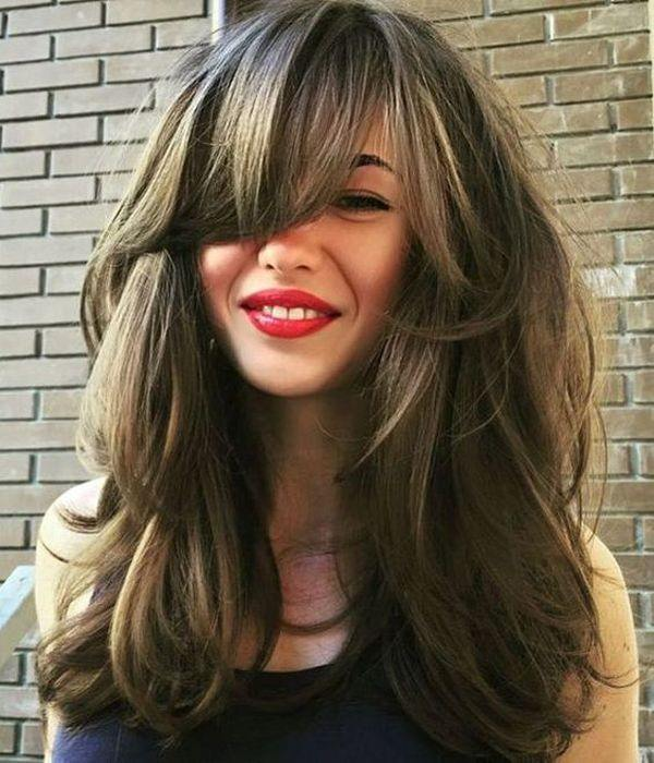 Long Hair Layered Haircuts For Women With Bangs 96
