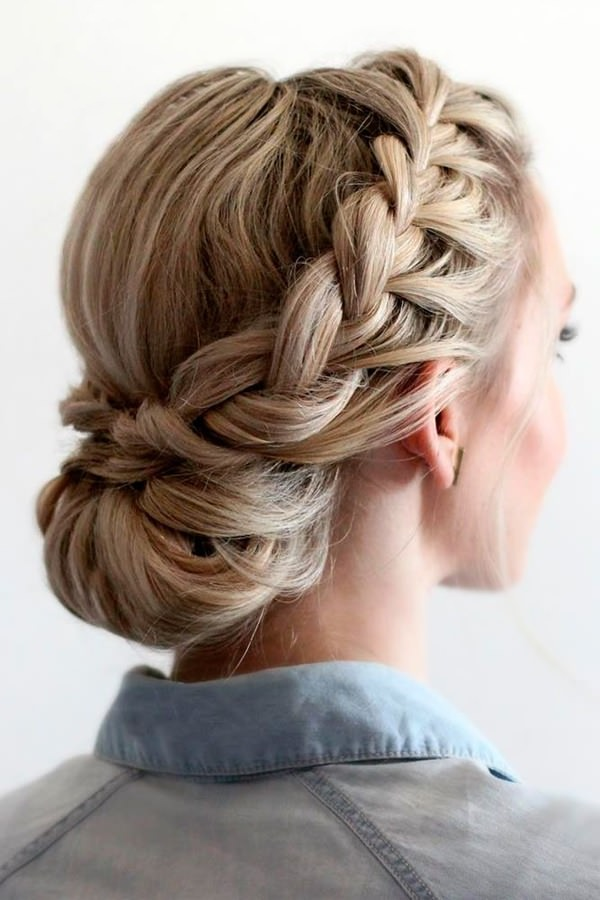 119 Elegant and Chic Braided Updo For Special Occasions