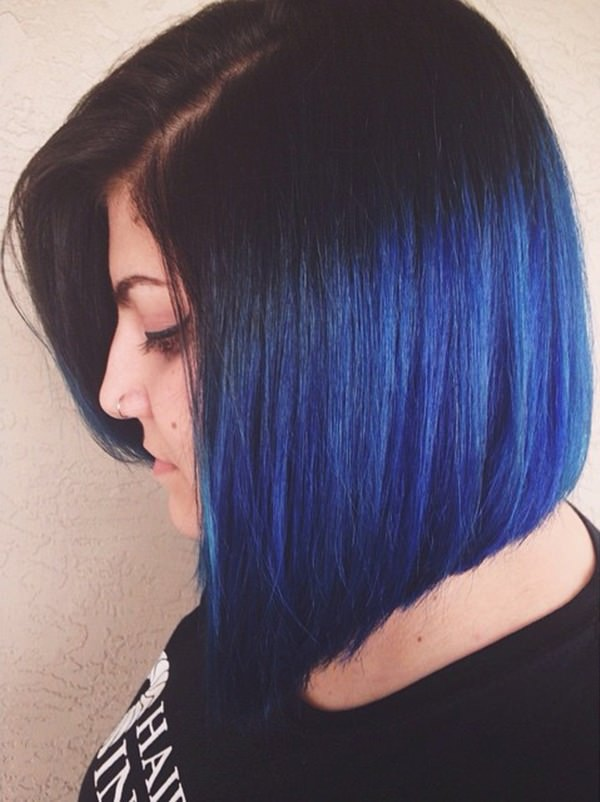 60b0f62f28b52 Inst it extra cool to have blue dyed hairs at the edges of your layers and  rest of hairs dyed in black color. Just try out this one look and see the  ...