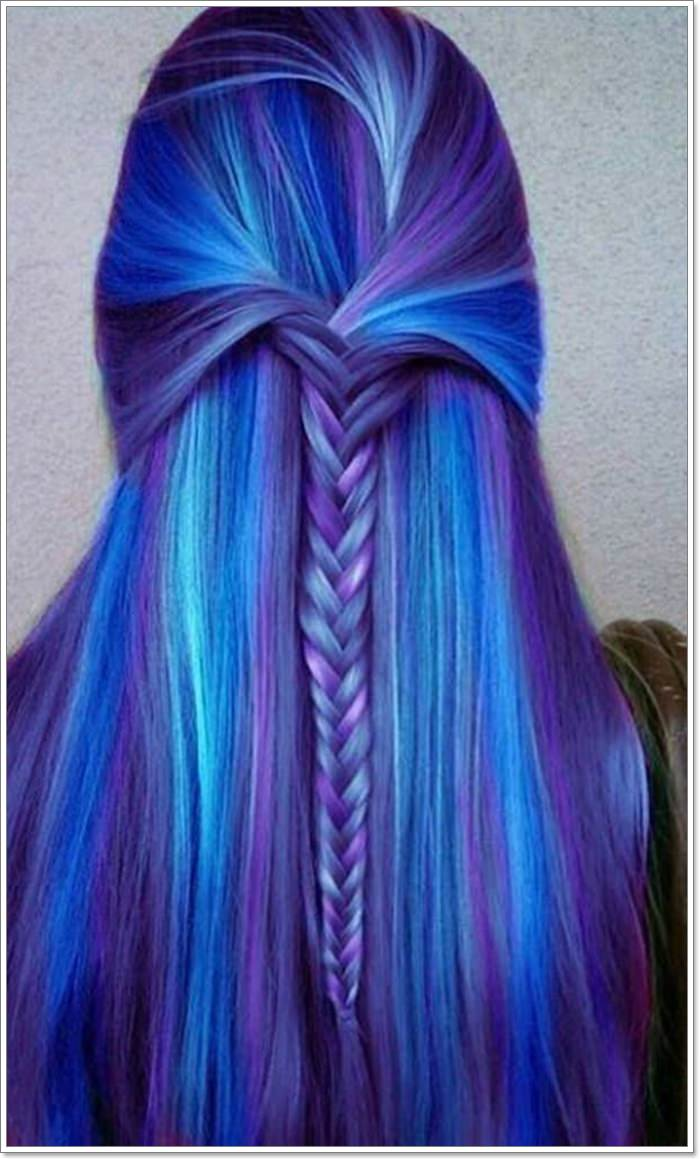 12 Extraordinary Blue and Purple Hair to Inspire You