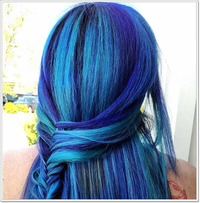 115 Extraordinary Blue And Purple Hair To Inspire You