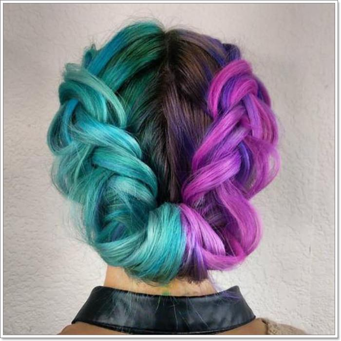 115 Extraordinary Blue And Purple Hair To Inspire You,What Is The Best Color To Paint Paneling
