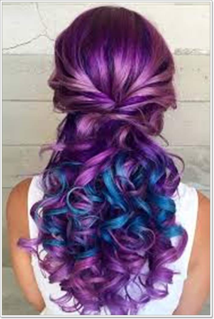 115 Extraordinary Blue And Purple Hair To Inspire You,Brown And Gray Bedroom